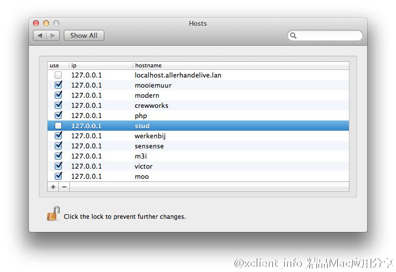 mac 修改host文件工具 修改host不再难