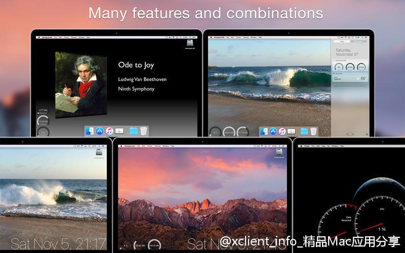 Backgrounds 9.2 系统增强及美化工具