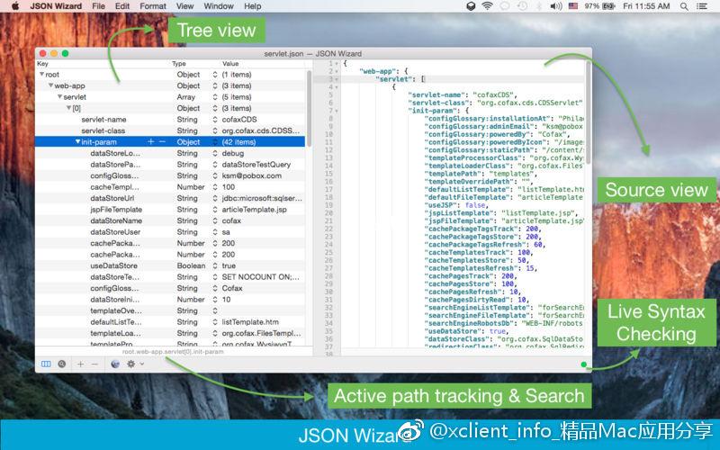 JSON Wizard 1.3 JSON数据查看编辑工具