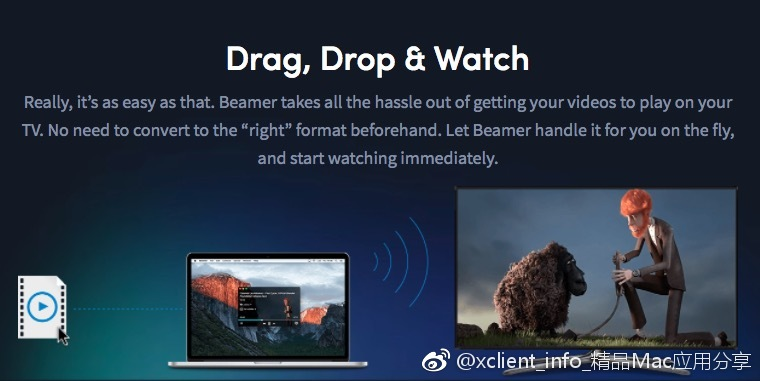 Beamer 3.3.4 影片和音樂投放到apple tv和chromecast