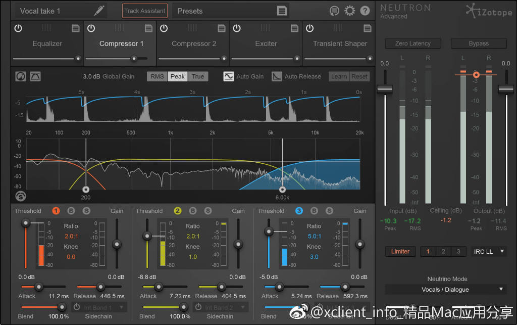 iZotope Neutron Advanced 3.11a 中子混音插件