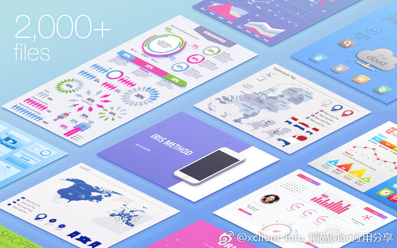 Infographics Lab – Templates 3.4.8 Keynote图表模板
