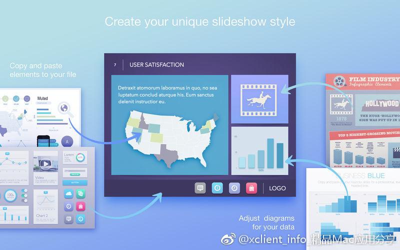 Infographics Maker - Templates 3.3 Illustrate及Pages设计模板套件