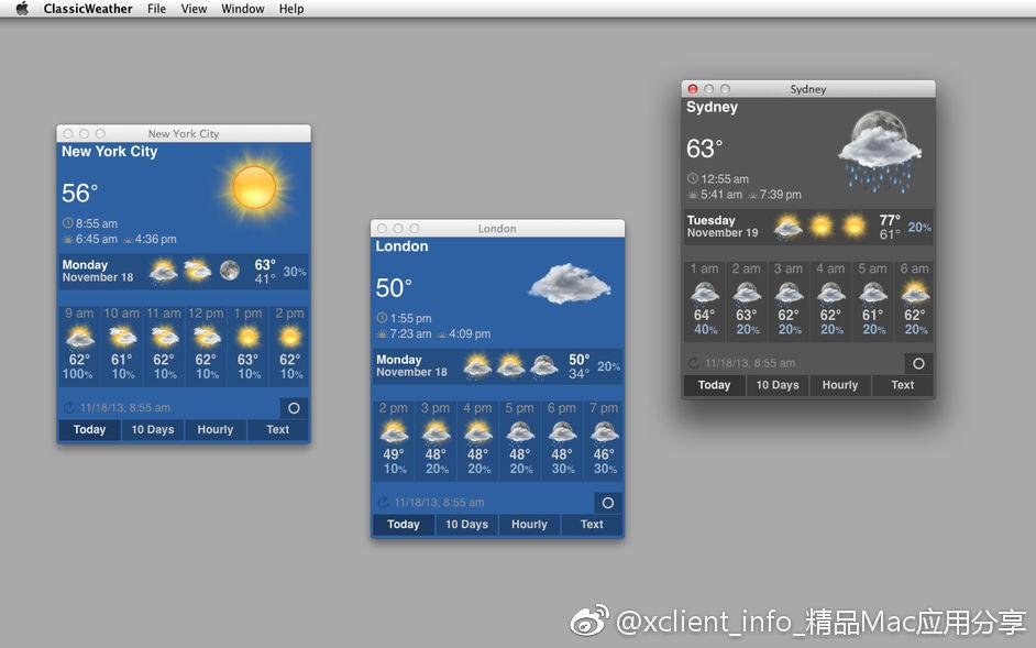 ClassicWeather 3.0 菜单栏天气应用