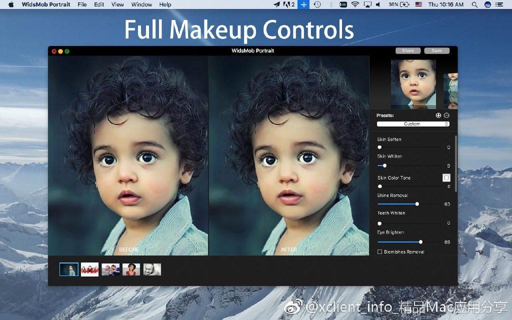 WidsMob Portrait 4.10 专业照片编辑软件