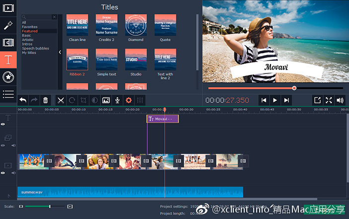 Movavi Slideshow Maker 6.6.1 幻灯片制作应用