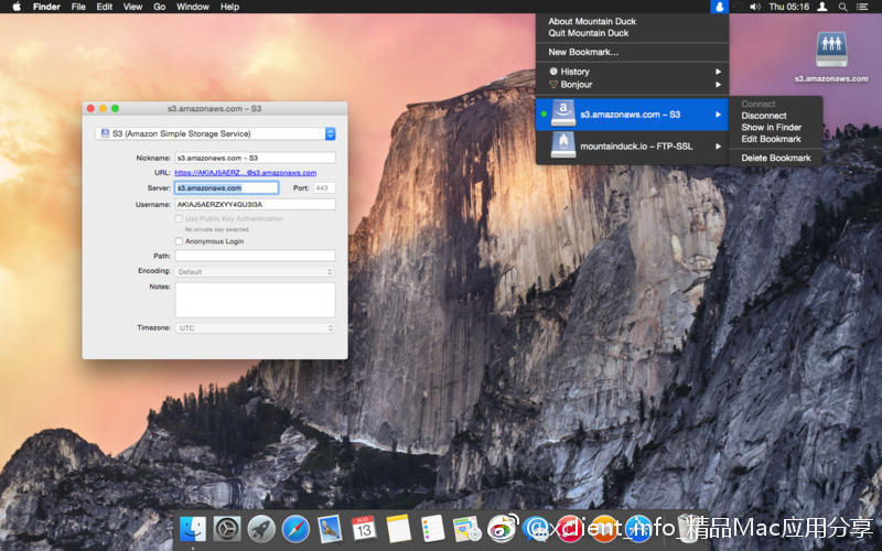 Mountain Duck 2.6.7 远程网盘本地化工具