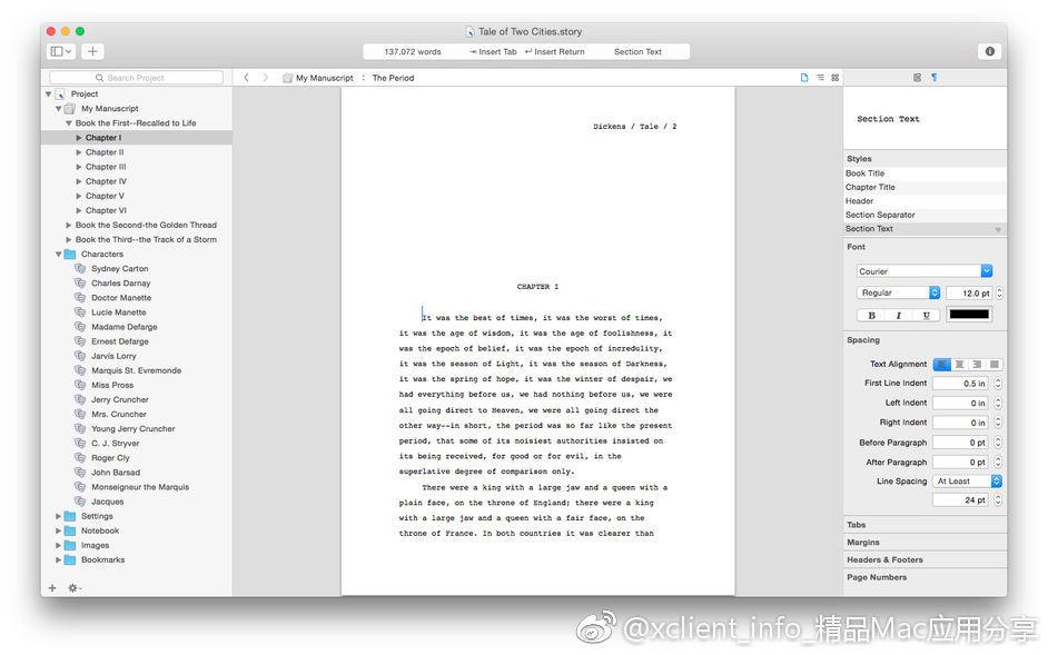 Storyist 3.5.1 故事开发写作工具