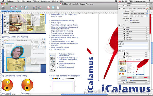 iCalamus 2.19 版面设计