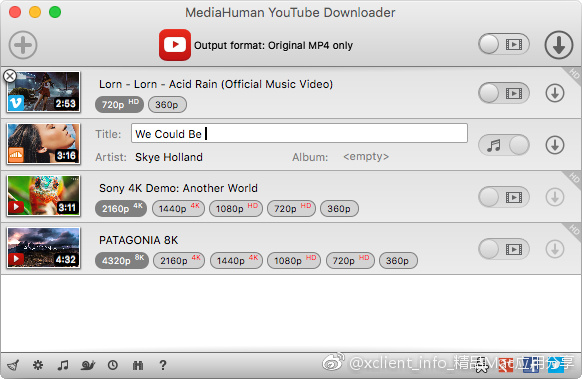MediaHuman Youtube Downloader 3.9.9.11(2101) 视频下载