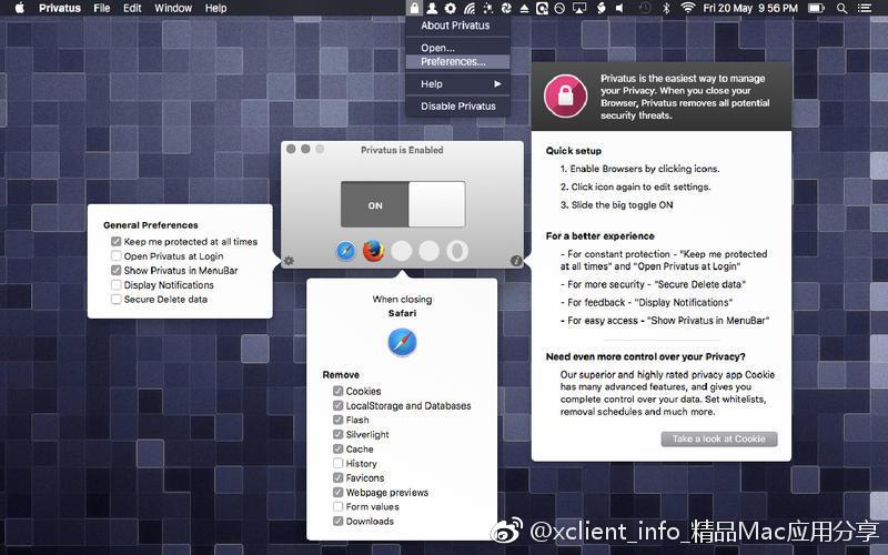 Privatus 6.3.3 浏览器数据缓存
