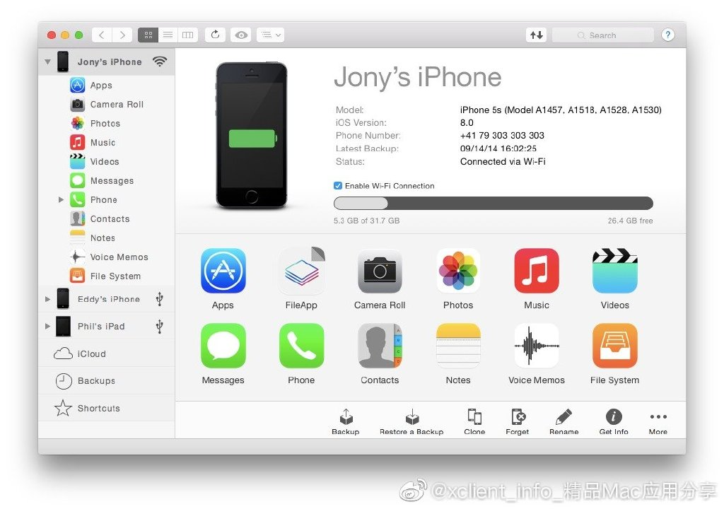 iMazing 2.11.5(13649) 在Mac上管理 iPhone 如此简单