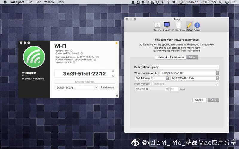 WiFiSpoof 3.4.4 MAC地址修改工具