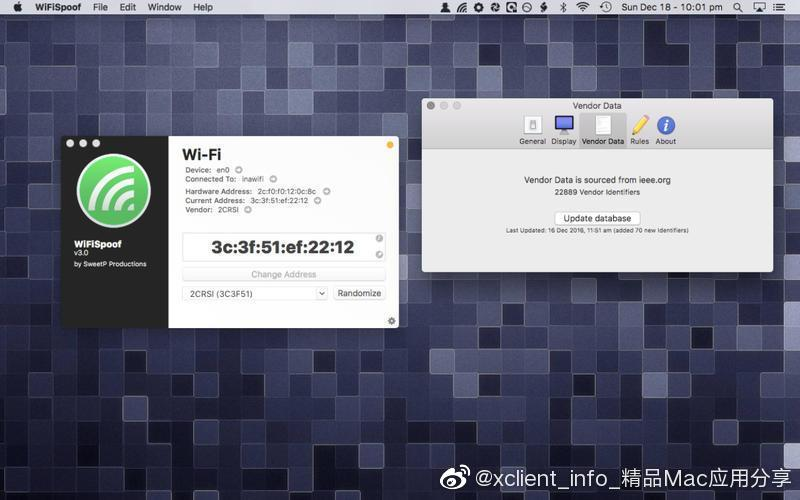 WiFiSpoof 3.4.6 MAC地址修改工具