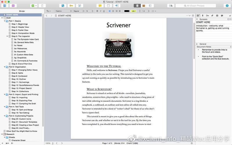 Scrivener 3.2.1.14481 强大的写作工具