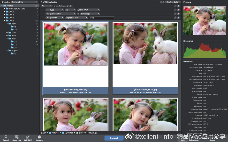 PhotoMill X 1.5.2 批量处理图片工具