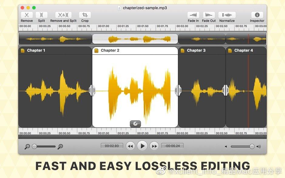 Fission 2.7.0 精简的音频编辑工具