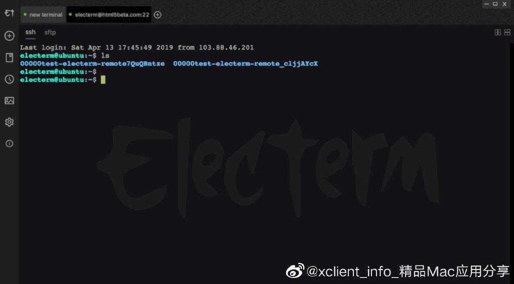[免费精品] Electerm 开源terminal/ssh/sftp客户端