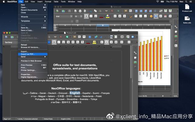 NeoOffice 2017.22 办公套件