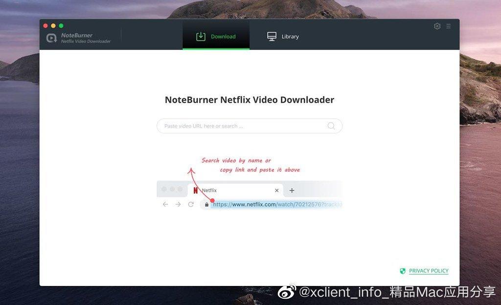 NoteBurner Netflix Video Downloader 1.1.2 网飞视频下载器